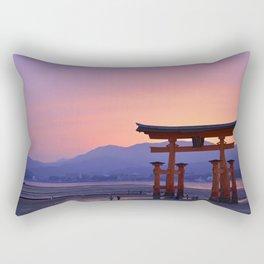 Miyajima Torii at Sunset Rectangular Pillow