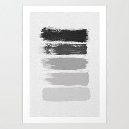 Black & White Stripes Art Print