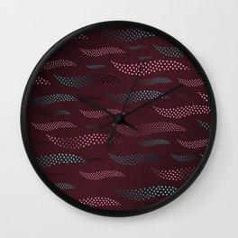 Waves / Tiger (stylized pattern) 7 Wall Clock