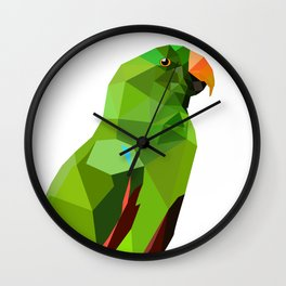 Eclectus parrot Geometric bird art Wall Clock