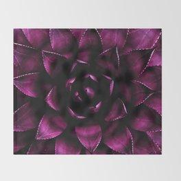 Deep Magenta Succulent Throw Blanket