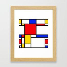 Piet Pattern Framed Art Print