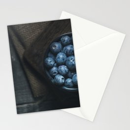 Blueberries on the dark Stationery Cards