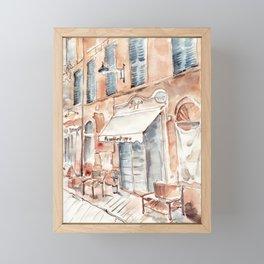 Old Italian street Framed Mini Art Print