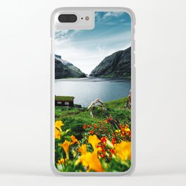 cottage at faroe Clear iPhone Case
