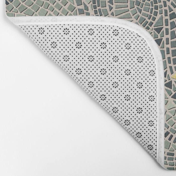 mosaic fish Bath Mat