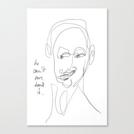 Sceptical Canvas Print
