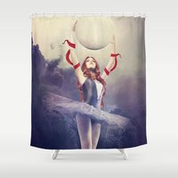 evolution Shower Curtains featuring Evolution by Kryseis Retouche