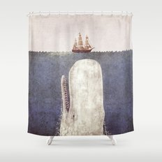 The Whale - exclusive purple variant  Shower Curtain