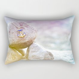 Anchor at the rock Rectangular Pillow