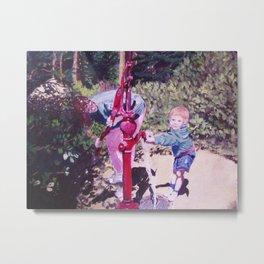Michael at the Waterpump Metal Print
