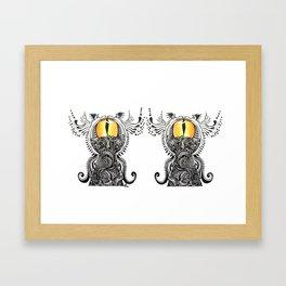 Saffron Stare Framed Art Print
