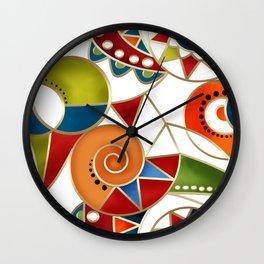 The art design. Carousel. Wall Clock