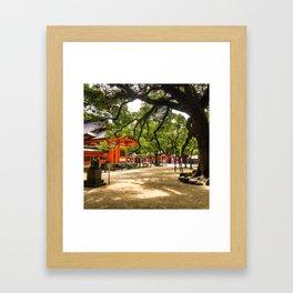 Sumiyoshi Shrine Framed Art Print