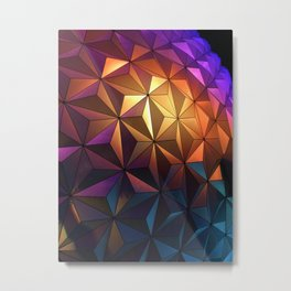 Rainbow Architecture Ball (Color) Metal Print