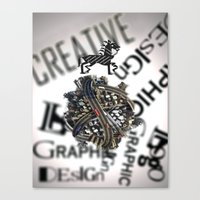 pixel Canvas Prints featuring Pixel by VERTIgO