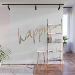 GOLD HAPPY Wall Mural