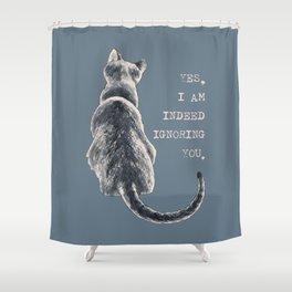 Cat Freedom Shower Curtain