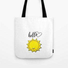 Hello Sunshine Positivity Art Tote Bag