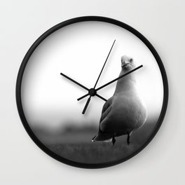 A Portrait of a Pensive Seagull Wall Clock