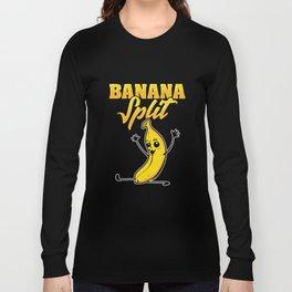 Cute & Funny Banana Split Gymnastics Long Sleeve T-shirt