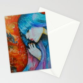 Melted in Blue Stationery Cards