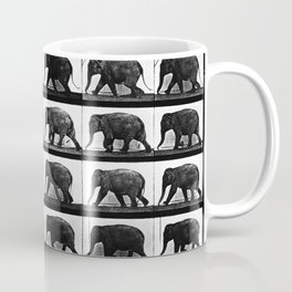 Time Lapse Motion Study Elephant Color Africa India Conservation Environment Coffee Mug