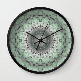 Grey-green kaleidoscope Wall Clock