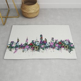 new york skyline floral Rug