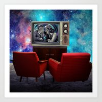 friends tv Art Prints featuring Television by Cs025