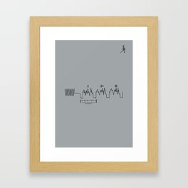 Voyager Golden Record Fig. 4 (Gray) Framed Art Print