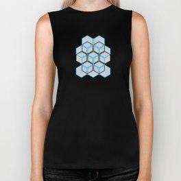 hexagon lattice Biker Tank