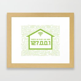 There's No Place Like Home 127.0.0.1 Framed Art Print