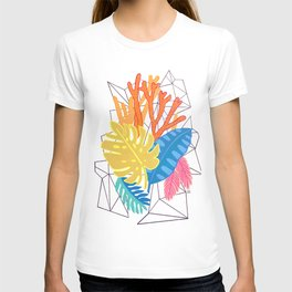 Leaves and corals T-shirt