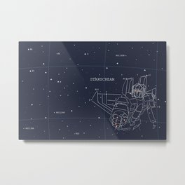 Starscream Star Chart Metal Print