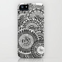 Circles mandala iPhone Case