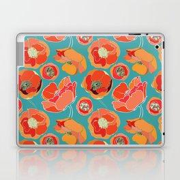 Turquoise California Poppies Laptop & iPad Skin
