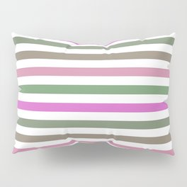 Pink Roses in Anzures 1 Stripes 1H Pillow Sham