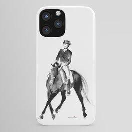 Horse (Dressage / half pass) iPhone Case