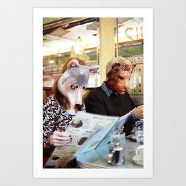 The Diner Art Print