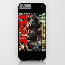 Antique Godzilla's Poster iPhone Case