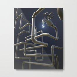 Water Pipeline Maze Metal Print