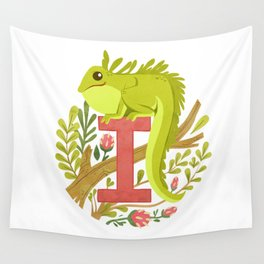 I is for Iguana Wall Tapestry