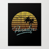 paradise Canvas Prints featuring Paradise by Anthony Troester