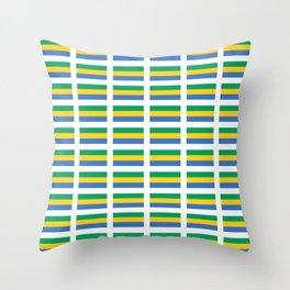 flag of gabon -gabon,gabonais,gabonaise,Gabonese,gabones,libreville. Throw Pillow