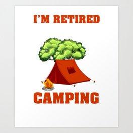 Retired Grandpa Tee For Camping Lover. Art Print