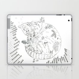 cat and piano Laptop & iPad Skin