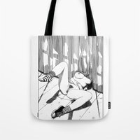 apollonia Tote Bags featuring asc 527 - La planque (You can't see me) by From Apollonia with Love