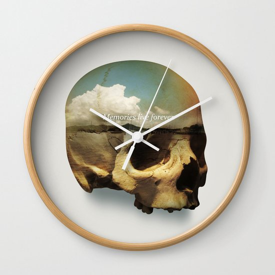 Memories live forever Wall Clock