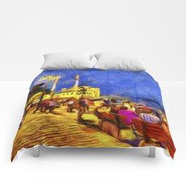 Istanbul At Night Van Gogh Comforters